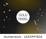modern tinsel confetti isolated ... | Shutterstock .eps vector #1652997826