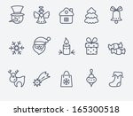 christmas icons | Shutterstock .eps vector #165300518