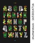 wonderland alphabet poster.... | Shutterstock .eps vector #1653014716