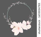 wreath flower vector  floral... | Shutterstock .eps vector #1653034783