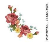 red rose flower vector design ...   Shutterstock .eps vector #1653035506
