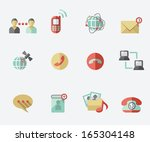 communication icons | Shutterstock .eps vector #165304148