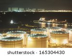 oil storage tanks  | Shutterstock . vector #165304430