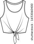 womens top fashion flat sketch ... | Shutterstock .eps vector #1653060400