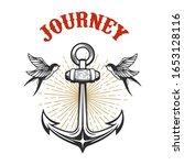 illustration of vintage anchor...   Shutterstock .eps vector #1653128116