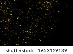 golden confetti. abstract... | Shutterstock . vector #1653129139