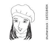 woman doodle sketch | Shutterstock .eps vector #165318404