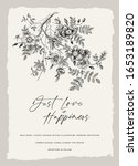 wild roses. wedding invitation. ... | Shutterstock .eps vector #1653189820