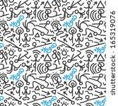 yoga   seamless pattern | Shutterstock .eps vector #165319076