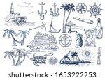 travel and adventures hand... | Shutterstock .eps vector #1653222253