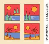 logo badge beach design... | Shutterstock .eps vector #1653228106