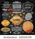 vector set of calligraphic... | Shutterstock .eps vector #165324158