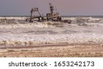 A Shipwreck Stranded On The...
