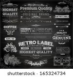 vector set of calligraphic... | Shutterstock .eps vector #165324734