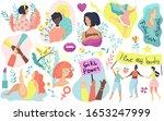 feminism icons  women rights ...   Shutterstock .eps vector #1653247999