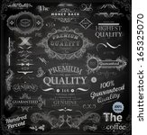 vector set of calligraphic... | Shutterstock .eps vector #165325070