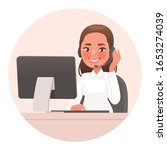 operator  friendly support... | Shutterstock .eps vector #1653274039