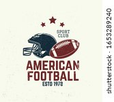 american football or rugby club ... | Shutterstock .eps vector #1653289240