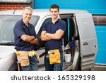 workers in family business... | Shutterstock . vector #165329198
