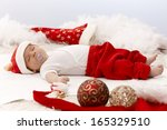 Infant In Santa Claus Outfit...