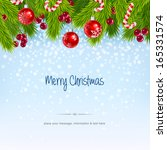 christmas design background ... | Shutterstock .eps vector #165331574