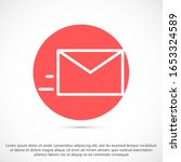 mail icon line vector. symbol...