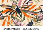 modern exotic jungle plants...   Shutterstock .eps vector #1653327049