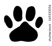 Animal Paws Print. Abstract...