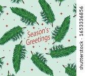 vector material of green pine... | Shutterstock .eps vector #1653336856