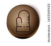brown line christmas mitten... | Shutterstock .eps vector #1653345433