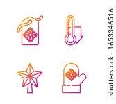 set line christmas mitten ... | Shutterstock .eps vector #1653346516