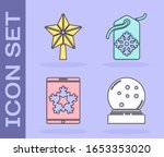 set christmas snow globe with... | Shutterstock .eps vector #1653353020