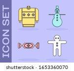 set holiday gingerbread man... | Shutterstock .eps vector #1653360070