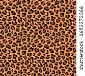 leopard skin fur seamless... | Shutterstock .eps vector #1653373366