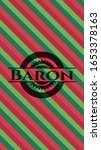 baron christmas colors style... | Shutterstock .eps vector #1653378163