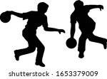 bowling bowlers silhouettes... | Shutterstock .eps vector #1653379009