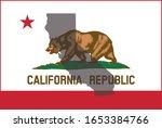 california silhouette on state... | Shutterstock .eps vector #1653384766