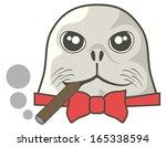 dog sea | Shutterstock .eps vector #165338594
