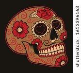 vector illustration of mexican ... | Shutterstock .eps vector #1653396163