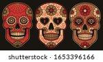 set of vector mexican sugar... | Shutterstock .eps vector #1653396166
