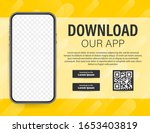 download page of the mobile app....   Shutterstock .eps vector #1653403819