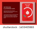 vector icon toy christmas tree... | Shutterstock .eps vector #1653405883