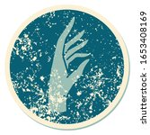 iconic distressed sticker... | Shutterstock . vector #1653408169