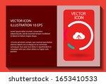 cloud download vector icon ....
