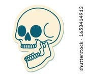 sticker of tattoo in... | Shutterstock . vector #1653414913