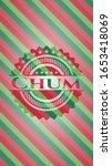 chum christmas emblem. vector... | Shutterstock .eps vector #1653418069