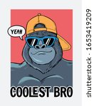 coolest bro slogan text with... | Shutterstock .eps vector #1653419209