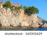 traditional stone buildings of... | Shutterstock . vector #165342629