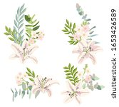 vector drawing lily flowers and ...   Shutterstock .eps vector #1653426589