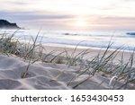 Sunrise Light On White Sand...